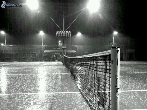 pistas-de-tenis,-noche,-lluvia,-foto-en-blanco-y-negro-244721